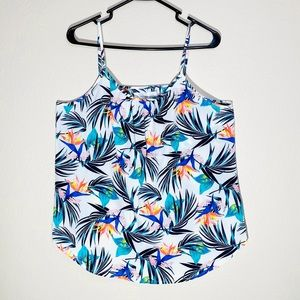 Bird of Paradise Tank Top Floral Print Palm Blouse